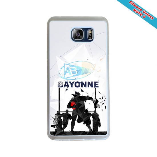 Coque Silicone Note 9 Fan de Rugby Racing 92 Géometrics