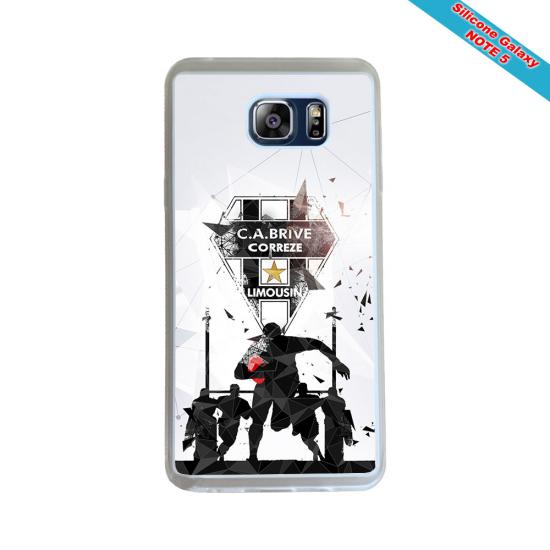 Coque silicone Huawei Mate 10 Fan de Rugby Racing 92 Géometrics