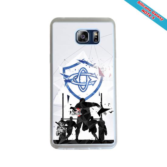 Coque silicone Huawei Mate 10 LITE Fan de Rugby Racing 92 Géometrics