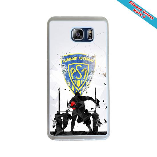 Coque silicone Huawei Mate 10 PRO Fan de Rugby Racing 92 Géometrics