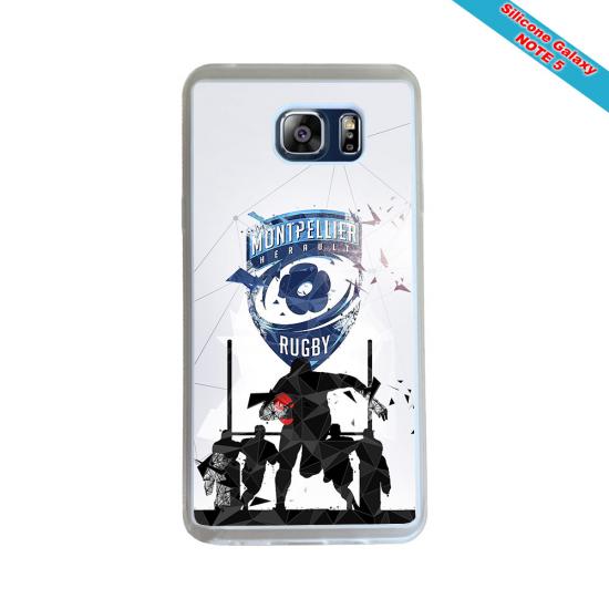 Coque silicone Huawei Mate 20 LITE Fan de Rugby Racing 92 Géometrics