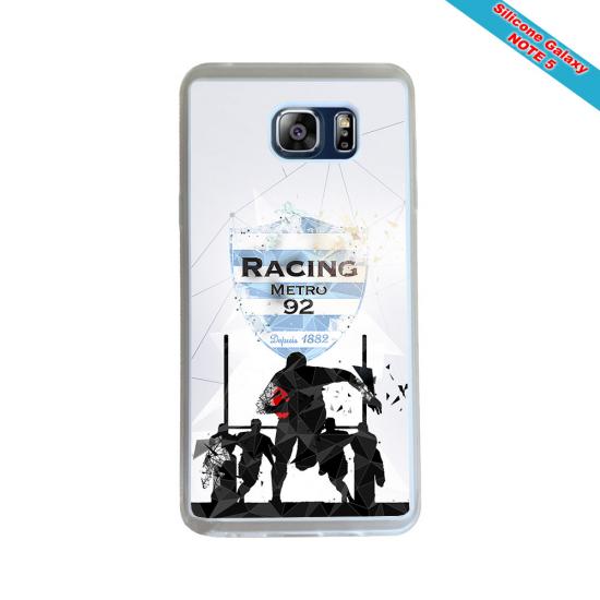 Coque silicone Huawei Mate 30 LITE Fan de Rugby Racing 92 Géometrics