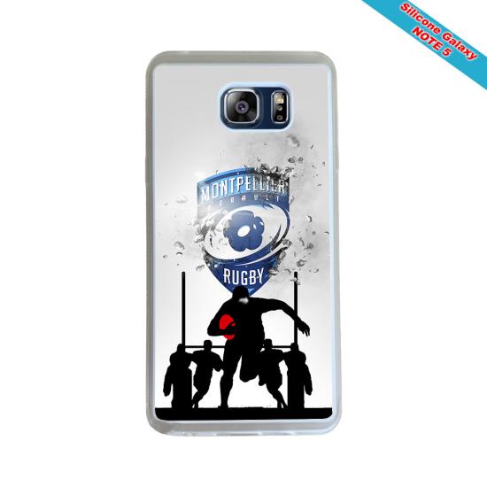 Coque silicone Huawei P20 LITE 2019 Fan de Rugby Racing 92 Géometrics