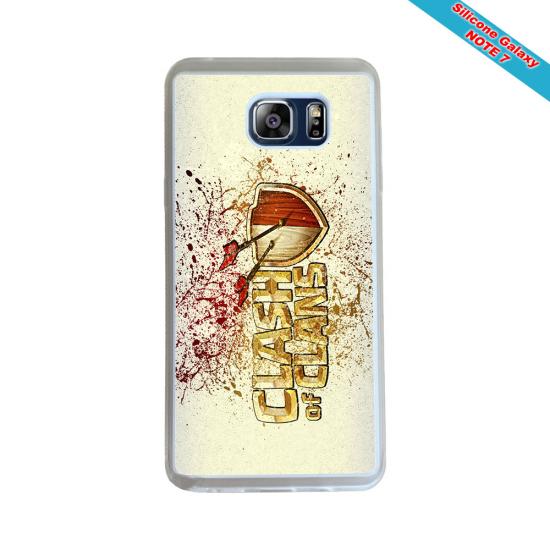 Coque Silicone Galaxy S9 PLUS verre trempé Fan de Rugby La Rochelle Géometrics