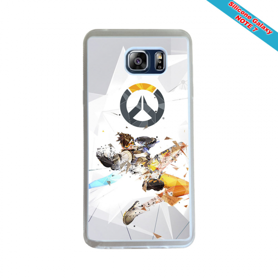 Coque Silicone Galaxy S6 Fan de Rugby Toulon Géometrics