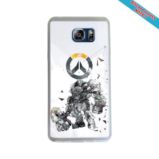 Coque Silicone Galaxy S7 EDGE Fan de Rugby Toulon Géometrics