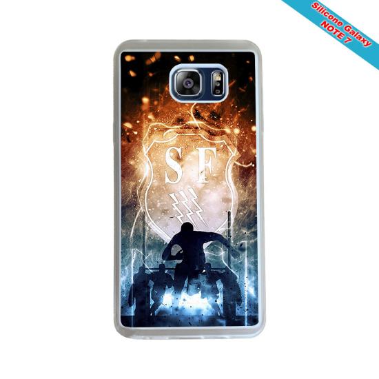 Coque Silicone iphone 7/8 Fan de Rugby Agen Destruction