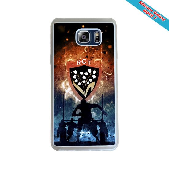 Coque Silicone iphone 7/8 verre trempé Fan de Rugby Agen Destruction