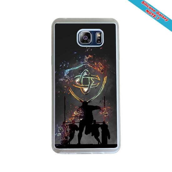 Coque silicone Galaxy J6 PLUS Fan de Rugby Agen Destruction