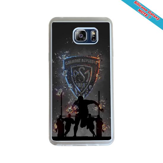 Coque silicone Galaxy J7 2016 Fan de Rugby Agen Destruction