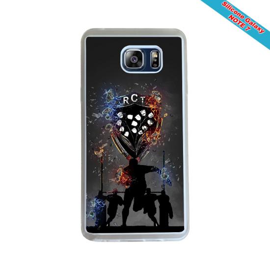 Coque silicone Galaxy M31 Fan de Rugby Agen Destruction