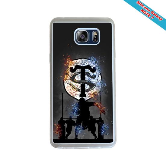 Coque Silicone Galaxy S6 Fan de Rugby Agen Destruction