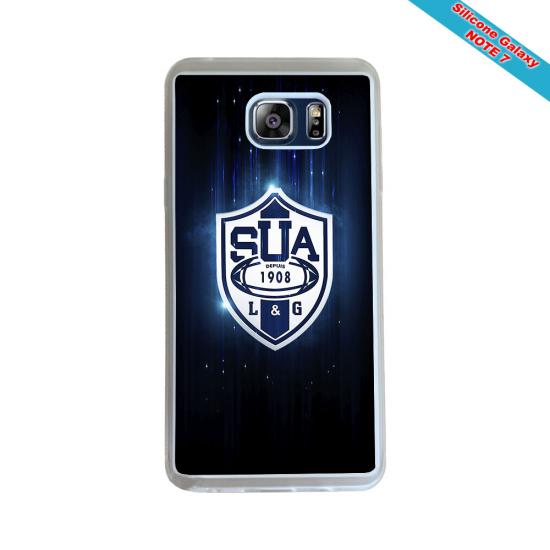 Coque Silicone Galaxy S6 EDGE Fan de Rugby Agen Destruction