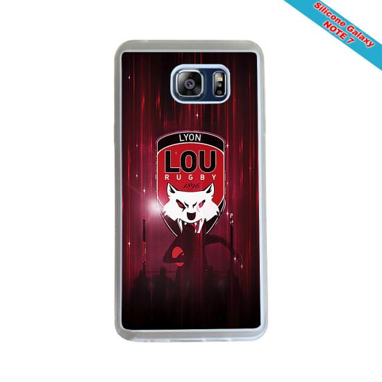 Coque Silicone Galaxy S9 verre trempé Fan de Rugby Agen Destruction