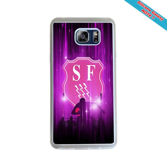 Coque Silicone Galaxy S9 PLUS verre trempé Fan de Rugby Agen Destruction
