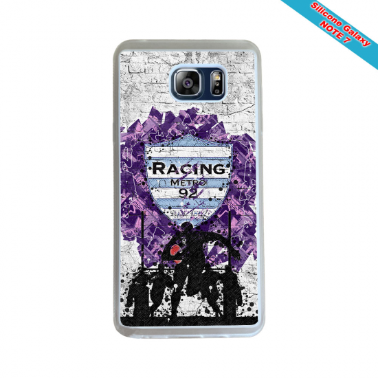 Coque Silicone Note 9 Fan de Rugby Agen Destruction