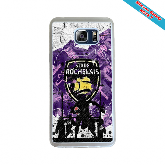 Coque Silicone Note 10 Fan de Rugby Agen Destruction
