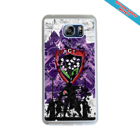 Coque silicone Huawei Mate 10 Fan de Rugby Agen Destruction