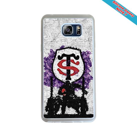 Coque silicone Huawei Mate 10 LITE Fan de Rugby Agen Destruction