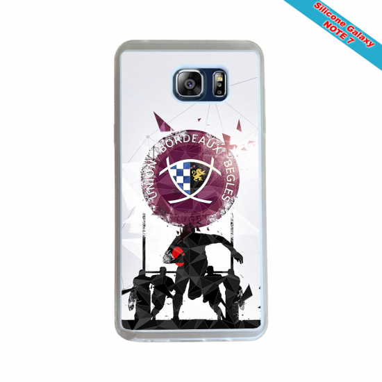 Coque silicone Huawei Mate 20 LITE Fan de Rugby Agen Destruction
