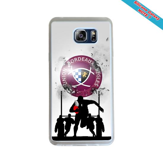 Coque silicone Huawei P20 LITE 2019 Fan de Rugby Agen Destruction