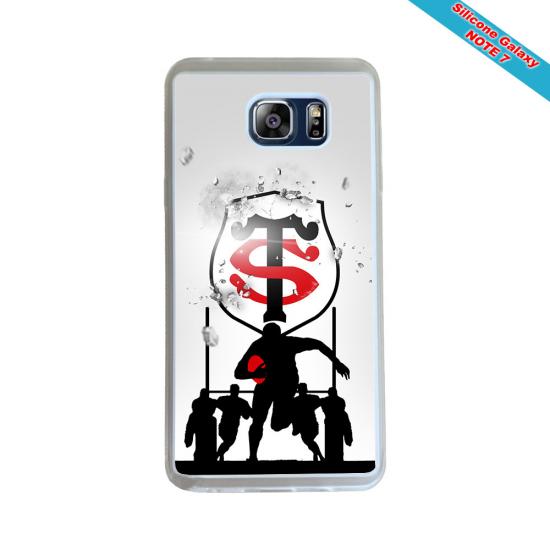 Coque silicone Iphone 6 PLUS Verre Trempé Fan de Rugby Bayonne Destruction