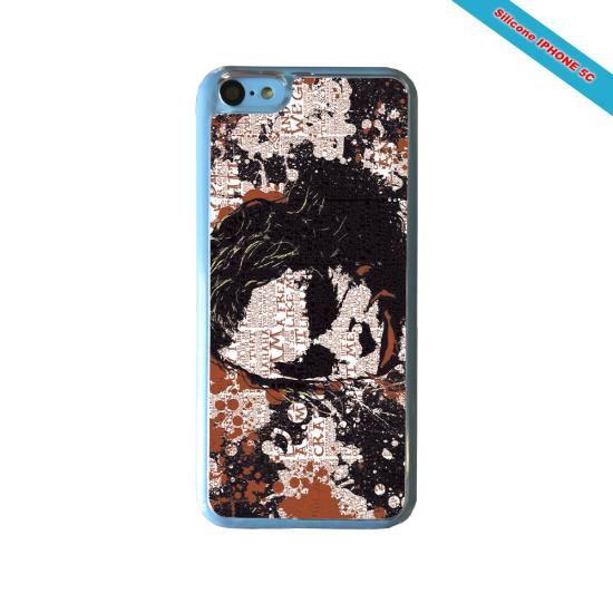 Coque Silicone iphone 7/8 verre trempé Fan de Rugby Bayonne Destruction