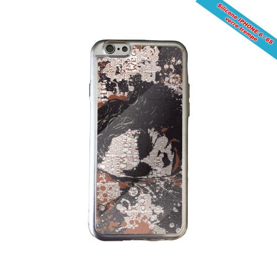 Coque Silicone iphone 7/8 PLUS Verre trempé Fan de Rugby Bayonne Destruction