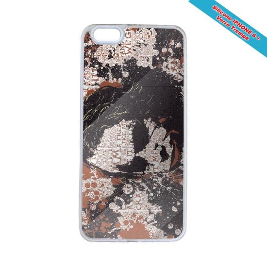 Coque silicone Iphone X/XS verre trempé Fan de Rugby Bayonne Destruction