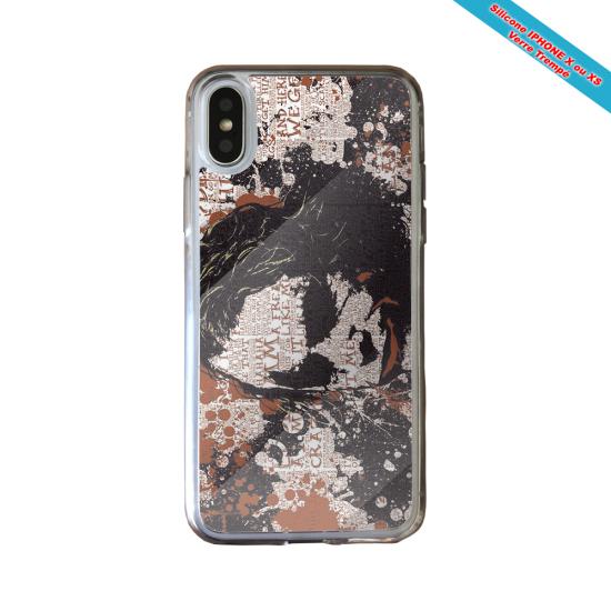 Coque silicone Iphone 11 verre trempé Fan de Rugby Bayonne Destruction