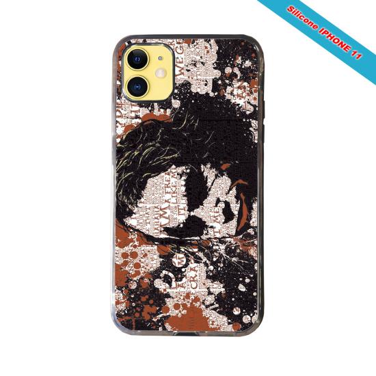 Coque silicone Iphone SE 2020 verre trempé Fan de Rugby Bayonne Destruction