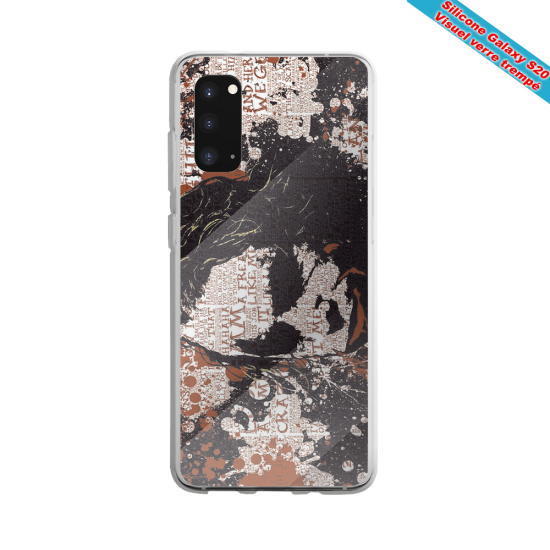 Coque Silicone Note 9 Fan de Rugby Bayonne Destruction