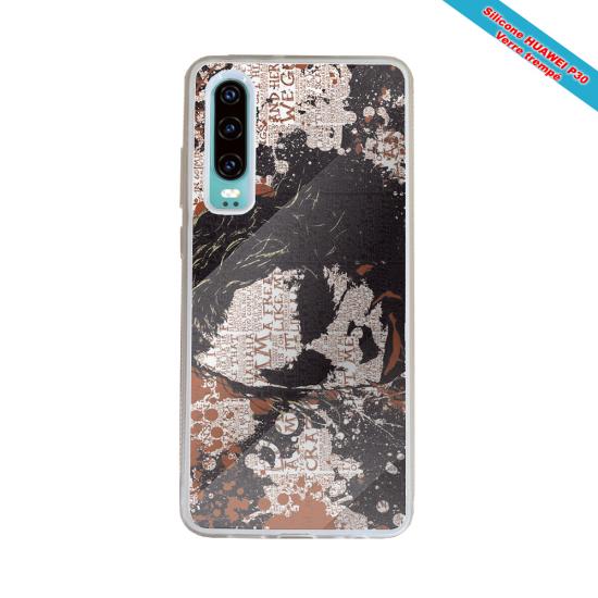 Coque silicone Iphone 6 PLUS Verre Trempé Fan de Rugby Bordeaux Destruction