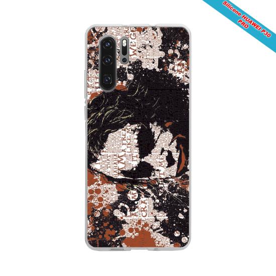 Coque Silicone iphone 7/8 verre trempé Fan de Rugby Bordeaux Destruction