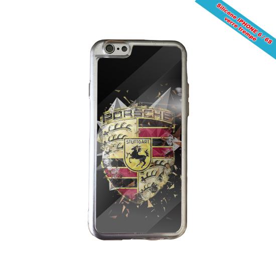 Coque silicone Iphone XS MAX Verre Trempé Fan de Rugby Bordeaux Destruction