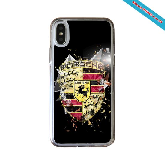 Coque silicone Iphone SE 2020 verre trempé Fan de Rugby Bordeaux Destruction