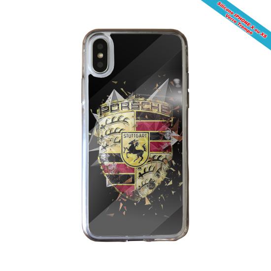 Coque silicone Iphone 12 Mini Fan de Rugby Bordeaux Destruction