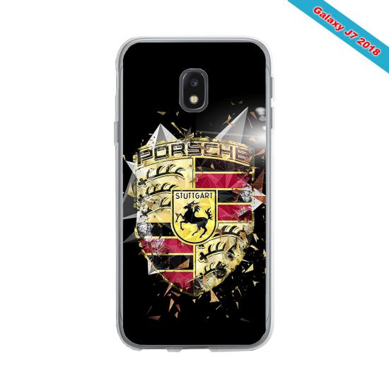 Coque Silicone Galaxy S9 verre trempé Fan de Rugby Bordeaux Destruction