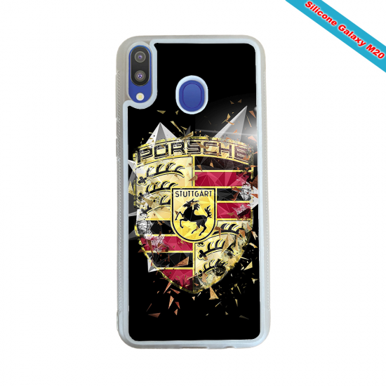 Coque Silicone Galaxy S10 verre trempé Fan de Rugby Bordeaux Destruction