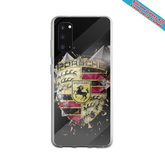Coque silicone Huawei Mate 20 LITE Fan de Rugby Bordeaux Destruction