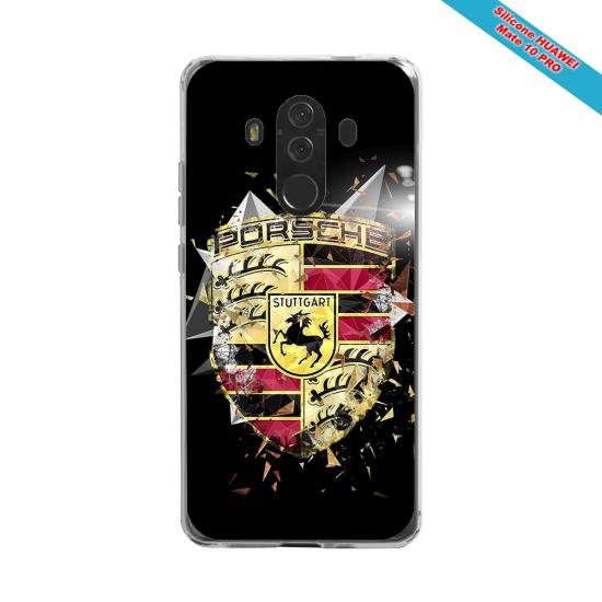 Coque silicone Huawei P20 LITE 2019 Fan de Rugby Bordeaux Destruction