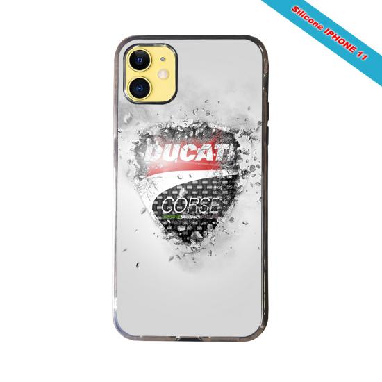 Coque Silicone Galaxy S9 PLUS verre trempé Fan de Rugby Montpellier Destruction