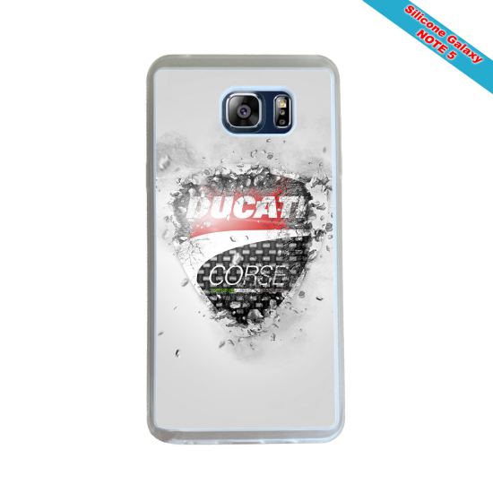 Coque silicone Galaxy A10 Fan de Rugby Paris Destruction