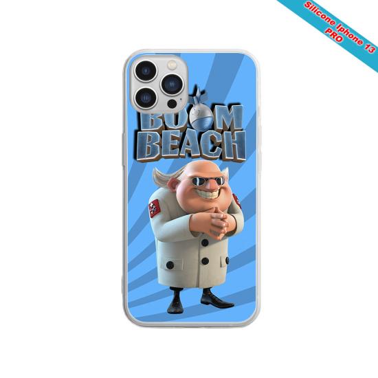 Coque silicone gravure sur bois  papillon Matières:Silicone et bois bambou