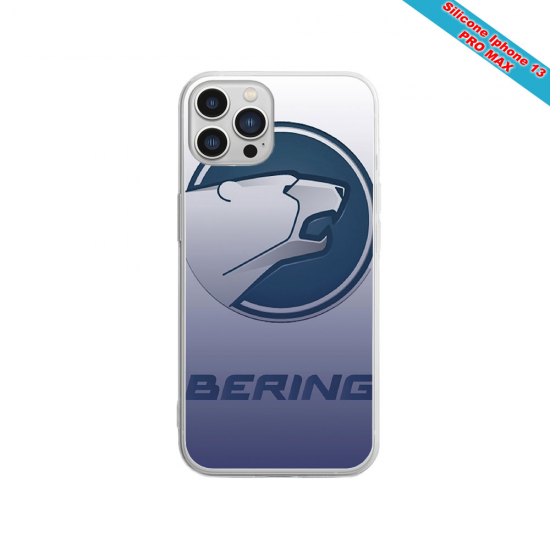 Coque silicone gravure sur bois  Vague japon