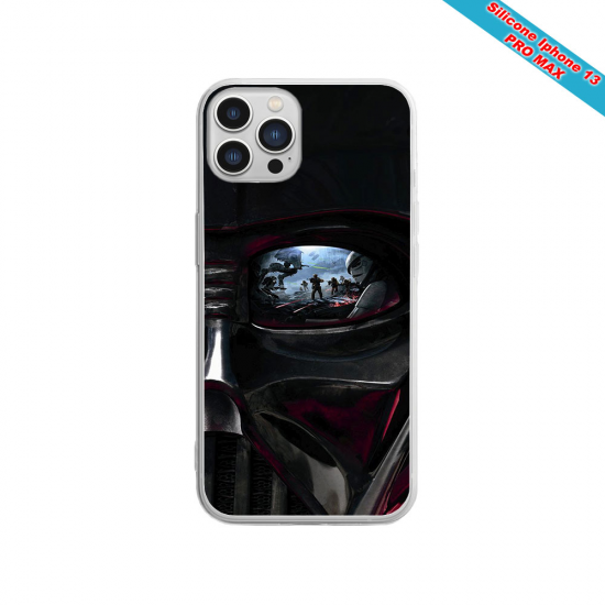Coque silicone gravure sur bois  Yin yang mandala