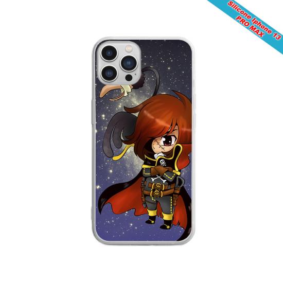 Coque silicone gravure sur bois Tigre mignon