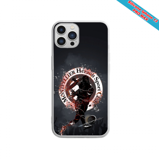 Coque Silicone iphone 5/5S/SE Fan de Sons Of Anarchy obsidienne