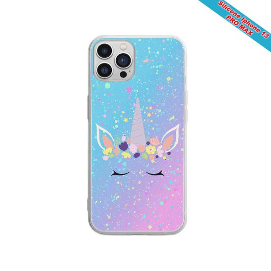 Coque Silicone iphone 7/8 verre trempé Fan de Sons Of Anarchy obsidienne
