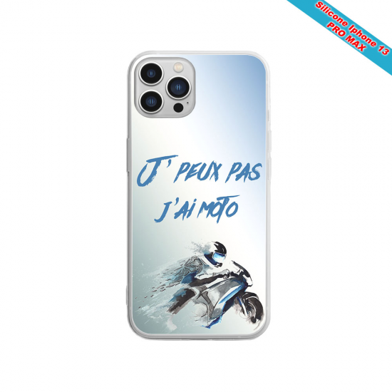 Coque Silicone iphone 7/8 PLUS Verre trempé Fan de Sons Of Anarchy obsidienne